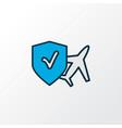 travel insurance icon colored line symbol premium vector image