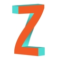 Twisted Letter Z Logo Icon Design Template Element vector image