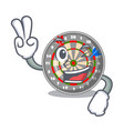 two finger dartboard in the shape of mascot vector image