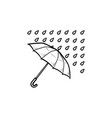 umbrella with rain hand drawn outline doodle icon vector image vector image