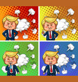 us president trump with four different emotions vector image
