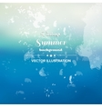 Vintage summer sea abstract background vector image