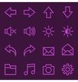 Volumetric Web Icon Collection vector image vector image