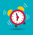 wake up icon of alarm clock in bright color vector image vector image