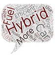 Why Buy A Hybrid Car text background wordcloud vector image vector image