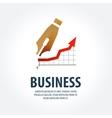 fountain pen logo design template business vector image