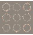 Set hand drawn wreaths vector image