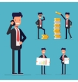 Businessman set Cartoon character in a business vector image