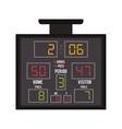 basketball scoreboard icon vector image vector image