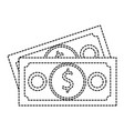 bill money isolated icon vector image