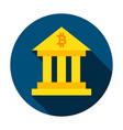bitcoin building circle icon vector image