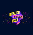 black friday sale 3d sale banner with text black vector image