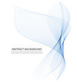 bluetransparentvertical wave on white vector image vector image