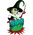 Cartoon Witch vector image