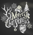 Chalk Merry Christmas Design vector image vector image