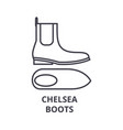 chelsea boots line icon outline sign linear vector image vector image