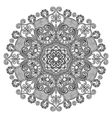 Circle lace ornament round ornamental geometric d vector image vector image