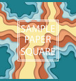 color paper cut wallpaper vector image vector image