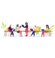 coworking space people working in office vector image
