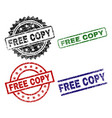 damaged textured free copy stamp seals vector image vector image