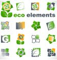 design elements eco vector image vector image
