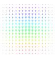 eco man shape halftone spectral grid vector image vector image