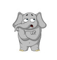 elephant he doubts doubt hands in the castle vector image vector image