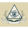 Eye of providence tattoo art design vector image vector image