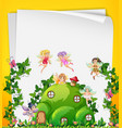 fairy at the hill house template vector image vector image