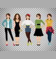 ffashion women set on transparent background vector image vector image