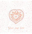floral heart heart made flowersdoodle heart vector image vector image