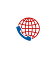 globe call logo icon design vector image vector image