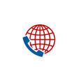 globe call logo icon design vector image
