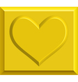 Gold heart bullion vector image vector image