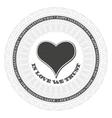 Guilloche valentines heart vector image vector image