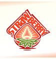 half strawberry vector image vector image