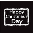 happy christmas day design vector image