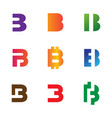 initial b logo template and inspiration vector image vector image