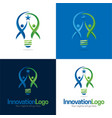 innovation logo and icon vector image vector image