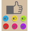like or thumbs up vector image