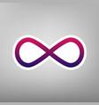 limitless symbol purple vector image vector image