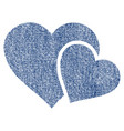 love hearts fabric textured icon vector image vector image