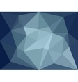 low poly background Dark blue polygonal vector image vector image