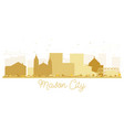 mason city iowa skyline golden silhouette vector image vector image