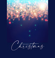 merry christmas and happy new 2022 year shining vector image vector image