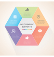 Modern hexagon infographics vector image vector image