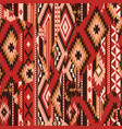 native american fabric patchwork wallpaper vector image vector image