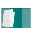 Open folder with paper and envelope isolated on vector image vector image