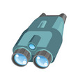 pair of binoculars with powerful zoom and shiny vector image vector image