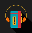 Retro vintage portable music player vector image vector image